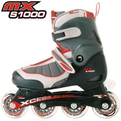 mx s1000 roller skates xcess red